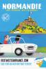 """NORMANDIE, Peugeot 403 Cabriolet, Mont St Michel, """"Allez En Vacances"""", Visitwesternfrance, Brittany Ferries - Basse-Normandie"""