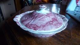 PALLISSY POTERY Soupier Decor Rose - Céramiques