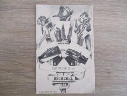 CPA 35 FANTAISIE SOUVENIR DE BECHEREL MULTI VUES - Bécherel