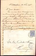 Omslag Enveloppe - Met Brief - Rotterdam Naar Terneuzen 1895 - Periode 1891-1948 (Wilhelmina)