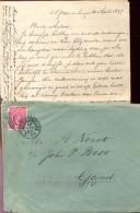 Omslag Enveloppe - Met Brief - 's Gravenhage  Naar Gand Gent 1897 - Periode 1891-1948 (Wilhelmina)