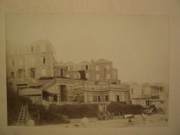 2 Photographies Albuminées Villa Des Falaises Le Havre Normandie Enfants Famille Nommée Ca 1890 - Anciennes (Av. 1900)