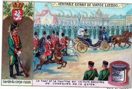 Chromos Veritable Extrait De Viande Liebig    (le Tsar Et La Tsarine En Voiture Escortes De Cosaques   )      ( Russe ) - Liebig