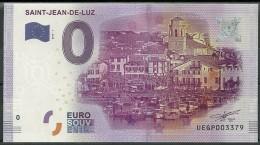 Billet Touristique 0 Euro  2016   SAINT JEAN DE LUZ - Essais Privés / Non-officiels