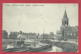 Deinze - De Kerk En Leie - Binneneschip  - 1913 ( Verso Zien ) - Deinze