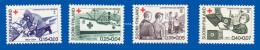 FINLAND 1964  RED CROSS CENTENARY OF GENEVA CONVENTION  U.M.  FACIT 593-596 - Finnland