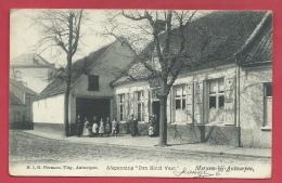 """Merksem-bij-Antwerpen - Afspanning """" Den Houd Vast """" - 1906 ( Verso Zien ) - Antwerpen"""