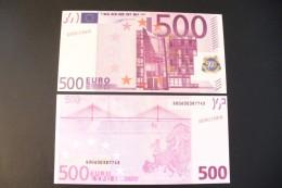 SUPERBE BILLET FACSIMILE- COPY RECTO VERSO - 500 € - A COLLECTIONNER - - Specimen