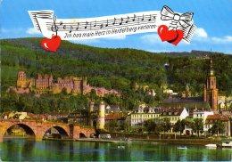Heidelberg - Alte Brücke Mit Blick Auf Das Schloß 2 - Heidelberg
