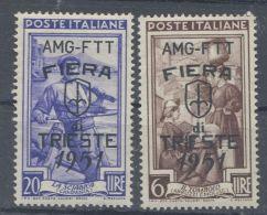 Trieste 1951 Fiera Lire 6 Lire 20 - 7. Trieste