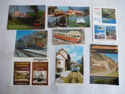 LOT De 11  FLYERS Et Carte Réponse Publicitaire Sur Le Chemin De Fer En SUISSE - Railway