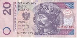 BILLETE DE POLONIA DE 20 ZLOTYCH DEL AÑO 1994 CALIDAD EBC (XF) (BANKNOTE) - Polonia