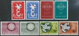Belgium  1958-61  4 Europa Sets  MNH**  2016 Scott Value $7.80 - Belgium