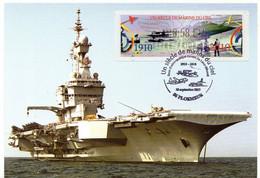 Porte Avions CHARLES DE GAULLE -  VIGNETTE LISA - UN SIECLE DE MARINS DU CIEL - 2010-...