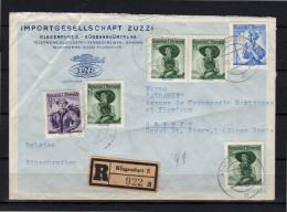 Zuzzi R-Klagenfurt Süsbahngürtel > Atramef Belgie Anvers (o45) - 1945-60 Cartas