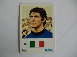 Football Futebol Italy Rossi Portugal Portuguese Pocket Calendar 1986 - Calendriers