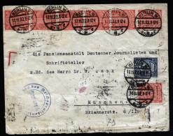 A3945) DR Infla R-Dienstbrief Von Berlin 17.11.22 Mit 38 Marken - Deutschland