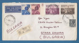 207777 / 1967 - 265 L. - EUROPE CEPT , X ANNIVERSARIO DEL TRATTATI DI ROMA , REGISTERED FOGGIA - SOFIA , Italia Italy - 1961-70: Marcophilia
