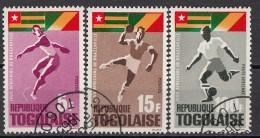 525 Togo 1965 Babdiera Flag Togo Congo - Lancio Disco Peso Calcio Preobliterati - Pesistica