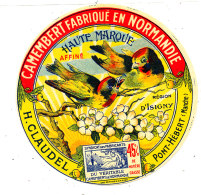 M 549 /  ETIQUETTE DE  FROMAGE  CAMEMBERT  H. CLAUDEL PONT - HEBERT  ( MANCHE) - Fromage