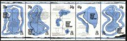 BIOT, 1994, MAPS OF THE TERRITORY, YV#145-49, MNH - British Indian Ocean Territory (BIOT)