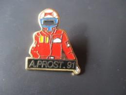 Pin´s --  A. PROST . 91  -- Marlboro - Automobilismo - F1