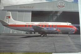 JORDAN AIRWAYS   VICKERS VISCOUNT  JY ACI    AIRPORT  BEY 1961 Collection Vilain - 1946-....: Era Moderna