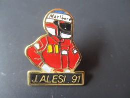 Pin´s --  J . ALESI . 91  -- Marlboro - Automobile - F1