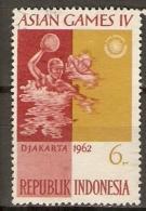 INDONESIE       -    1962.   Jeux De Djakarta    -    WATER - POLO   -    Oblitéré.