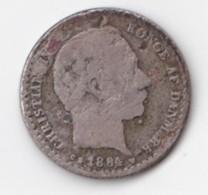 Denmark, 10 Øre, 1884 CS, 2 Scans.  Silver - Dänemark