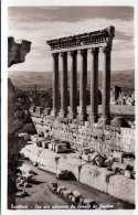 BAALBEK (Libanon) - Les Six Colonnes Du Temple De Jupiter, Fotokarte LP Gel.1961, Sondermarke - Libanon