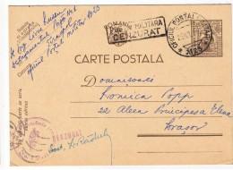 Romania - Tiraspol -  Oficiul Postal Militar Nr23 - Detasamentul Nr 1 Paza Drumuri -Dubla Cenzura Militara 1942 - Cartas De La Segunda Guerra Mundial