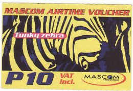 Botswana, Mascom Airtime Voucher, Zebra, P10 - Botswana