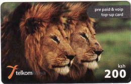 Kenya, Telkom 200 Ksh, Lion, - Kenya