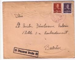 Romania 1944 Cenzurat Buzau 18- Lt Aviator Damboianu - Flotila 3-a Bombardament !!! - 2. Weltkrieg (Briefe)