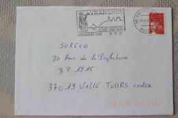 50 Manche - Flamme 2002 - AVRANCHES - Cité Des Manuscrits Du Mont St Michel - Mechanical Postmarks (Advertisement)