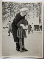 VIGNETTE JEUX OLYMPIQUES J.O Garmisch-Partenkirchen OLYMPIA 1936 PET CREMER DUSSELDORF BILD 135 PATINAGE ARTISTIQUE COUP - Tarjetas