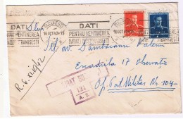 Romania Recomandata / Cenzurat Bucuresti / Francat. Mecanica 1942/ Escadrila 17 Observatie / Of Post Mil 104 - 2. Weltkrieg (Briefe)