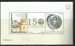 ITALIA REPUBBLICA ITALY REPUBLIC 2012 LA LIRA ITALIANA BLOCCO FOGLIETTO BLOCK SHEET MNH - 6. 1946-.. Repubblica