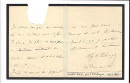 NEY D'ELCHINGEN  ( 1835 - 1881 ) Quelques Lignes Au Comte De Geminy - Documentos Antiguos