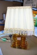 Bouteille De Parfum Cristal De Lesourd Sous Abat Jour (Lampe De Chevet) - Fragrances