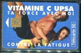 Télécarte 50 Unités : Vitamine C UPSA - Tirage 2 000 000 Ex - Francia