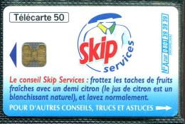 Télécarte 50 Unités : Skip Services - Tirage  2 000 000 Ex - France