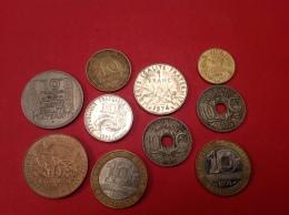 LOT DE 10 Pieces Voir Détail Et Scan - Monnaies & Billets
