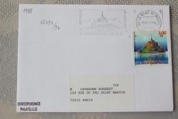 50 Manche - Flamme Concordante 1998 - LE MONT ST MICHEL - La Merveille De L'occident - Mechanical Postmarks (Advertisement)