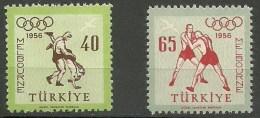 Turquia Aereo 35/36 ** MNH. 1956 - Corréo Aéreo