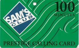 CARTE*-PREPAYEE-USA-100MN-MCI TELECOM-SAM S CLUB-Plastic-Epais-GRATTE- TBE - Vereinigte Staaten