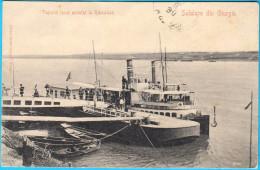 SALUTARE DIN GIURGIU - Vaporul Local Acostat La Ramadan ( Romania )  Ship Steamship * 1906. Travelled To Jelsa , Croatia - Romania