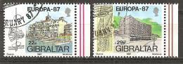 = Gibraltar 1987 - Michel 519/520 O = - Gibraltar