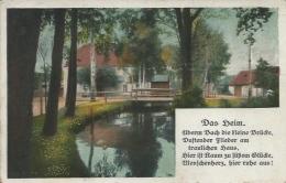 """Postcard RA006403 - Germany (Deutschland) Gedicht """"Das Heim"""" - Alemania"""